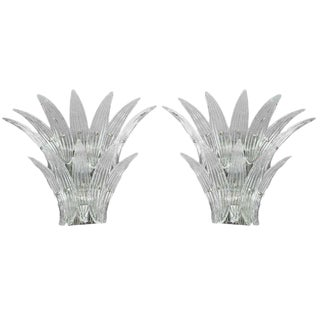 1960s Vintage Barovier Murano Venetian Glass Sconces- a Pair For Sale