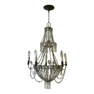 Antique French Empire Crystal Chandelier For Sale