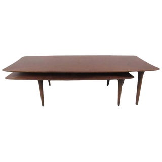 Vintage Modern Two-Tier Pivot Coffee Table For Sale