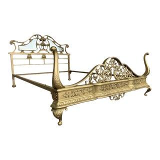 19th Century Belle Epoque Full Bronze Bedframe For Sale