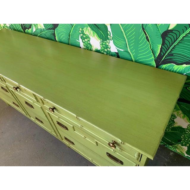 1970s Vintage Ficks Reed Faux Bamboo Dresser For Sale - Image 5 of 7