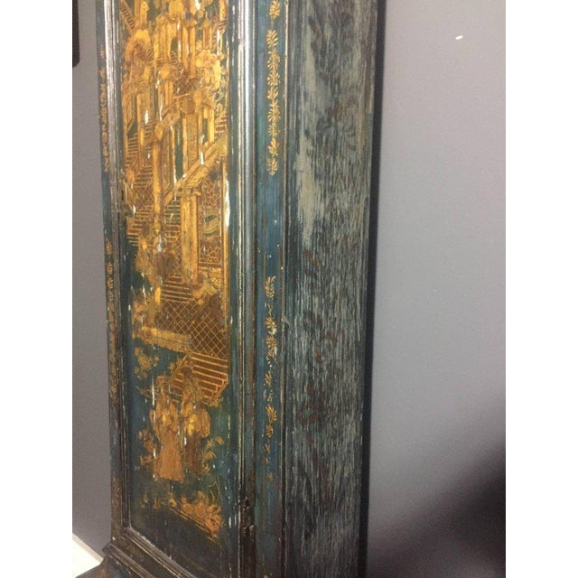 Late 18th Century English Chinoiserie Tall Case Clock For Sale - Image 9 of 11
