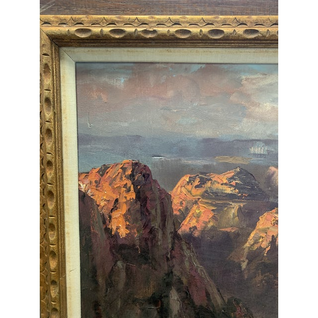 "Chestnut Segundo Huertas Original Oil Painting, ""Canyon"" For Sale - Image 8 of 9"
