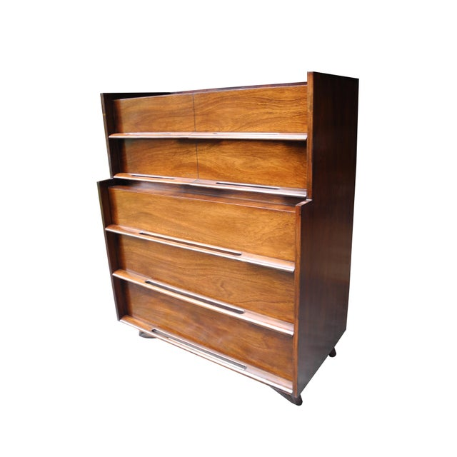 Mid-Century Modern Mid-Century Modern Highboy or Tall Dresser by Edmond J. Spence For Sale - Image 3 of 10