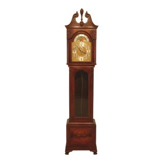 Herschede Mahogany Grandfather Clock For Sale