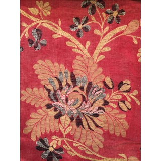 Embroidered Upholstery Fabric - 7 Yards