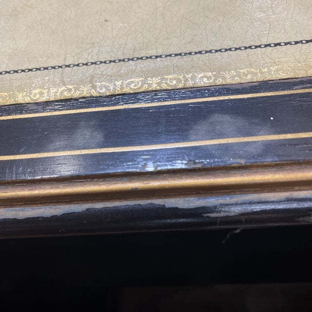 Chinoiserie Leather Too Writing Desk For Sale - Image 10 of 13
