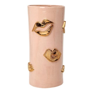 Blush and Gold Kiss Vase