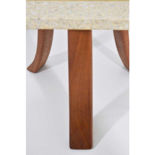 1950s Harvey Probber Hexagonal Terrazzo Side Table For Sale - Image 5 of 7