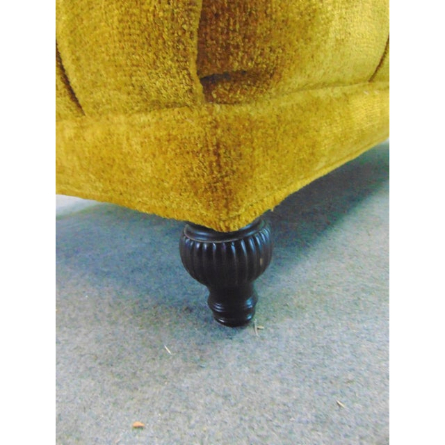 Schumacher Schumacher Regency Style Yellow Tufted Chaise Lounge For Sale - Image 4 of 9