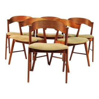 Danish Teak Model 32 Dining Chairs, 1960s - Set of 6 For Sale