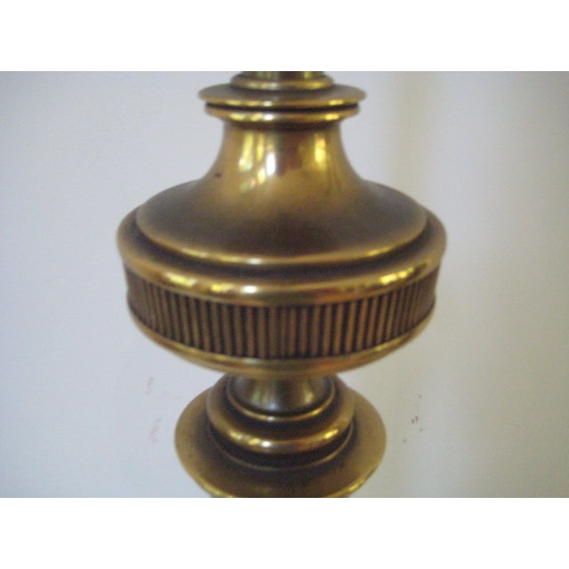 Stiffel Federal Style Brass Table Lamps - A Pair - Image 6 of 7