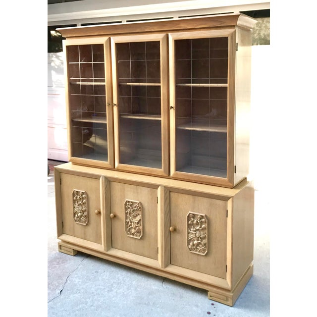 Mid-Century Chinoiserie Glass Front Cabinet - Image 2 of 8