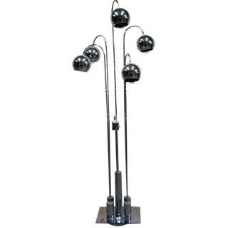 Raindrop Five-Globe 1960's Chrome Floor Lamp by Torino Lamp Co. For Sale