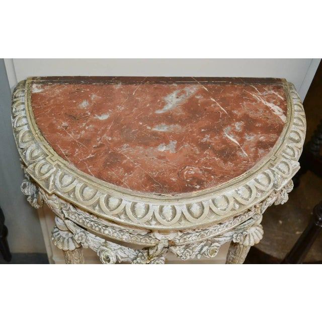 Brown 19th Century Pair of French Louis XVI Consoles For Sale - Image 8 of 11
