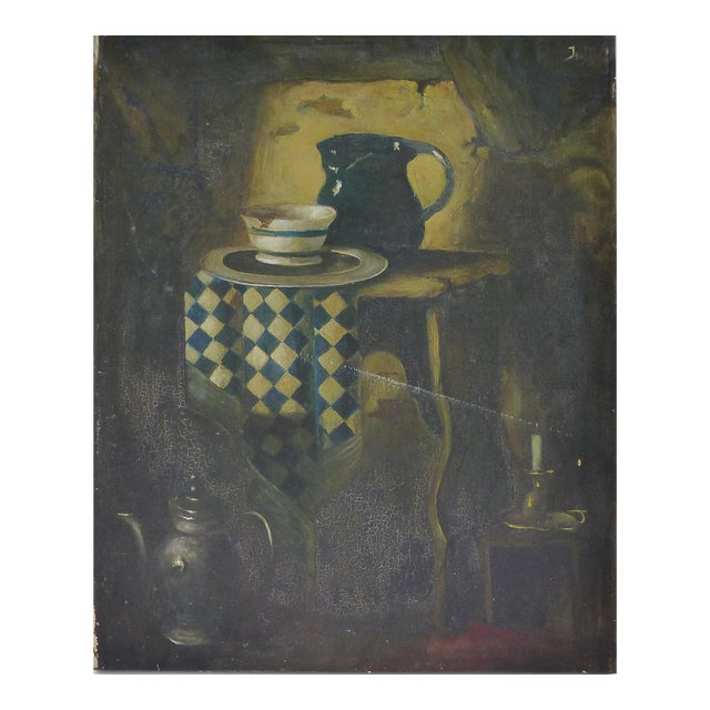 Dutch Style Still-Life Oil Painting on Linen For Sale
