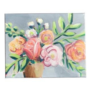 """""""Garden Flowers II"""" Acrylic Painting"""