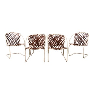 Mid Century Modern Brown Jordan 6pc Patio Dining Chairs - Set of 6 For Sale