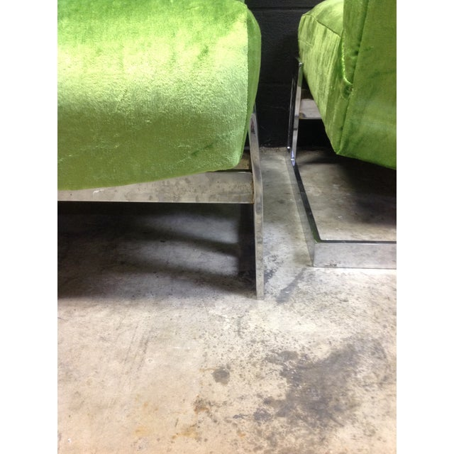 Milo Baughman Style Chrome Accent Chairs - A Pair - Image 6 of 6