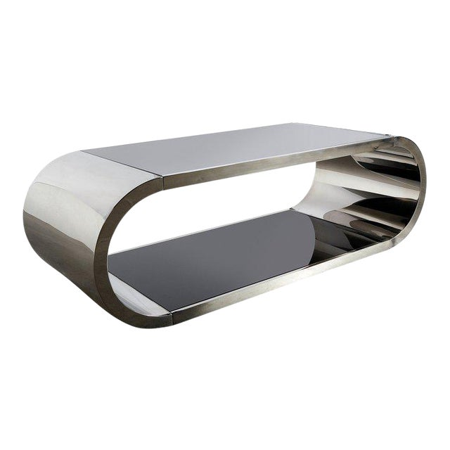 Pia Coffee Table in Chrome For Sale