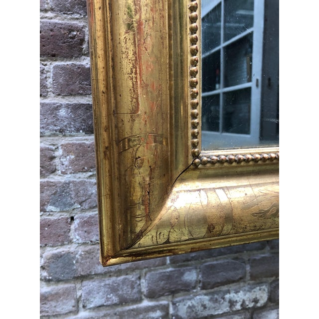 Traditional French Louis Philippe Mirror , 19th Century For Sale - Image 3 of 9