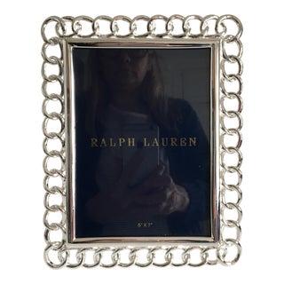 Ralph Lauren Blake Silver Plate Chain Link 5x7 Frame