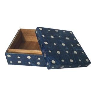 Stainless Polka Dot Wooden Box