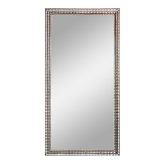 Vintage French Rectangular Silver Gilt Wall Mirror For Sale