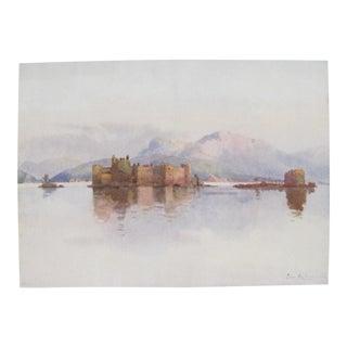 1905 Original Italian Print - Italian Travel Colour Plate - Cannero, Lago Maggiore For Sale