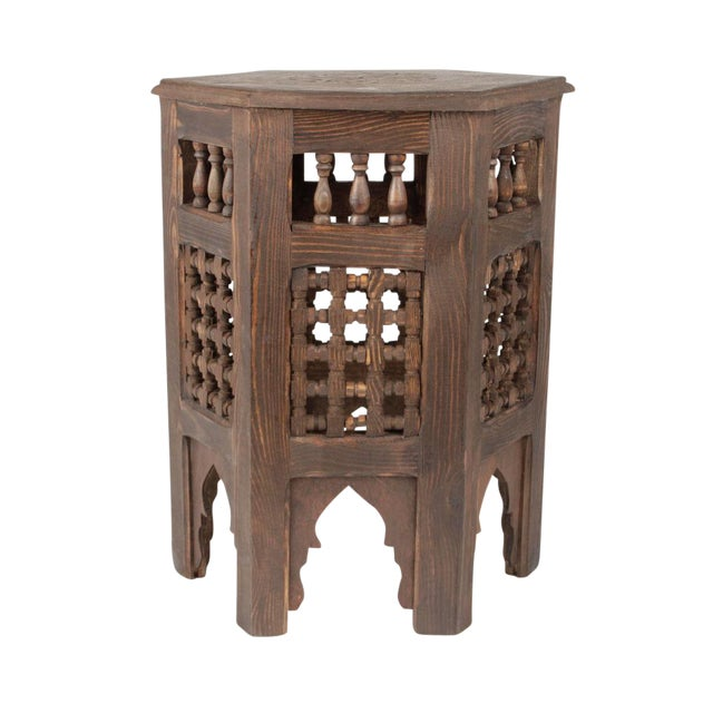 Zagora Redwood Side Table Chairish - Redwood side table