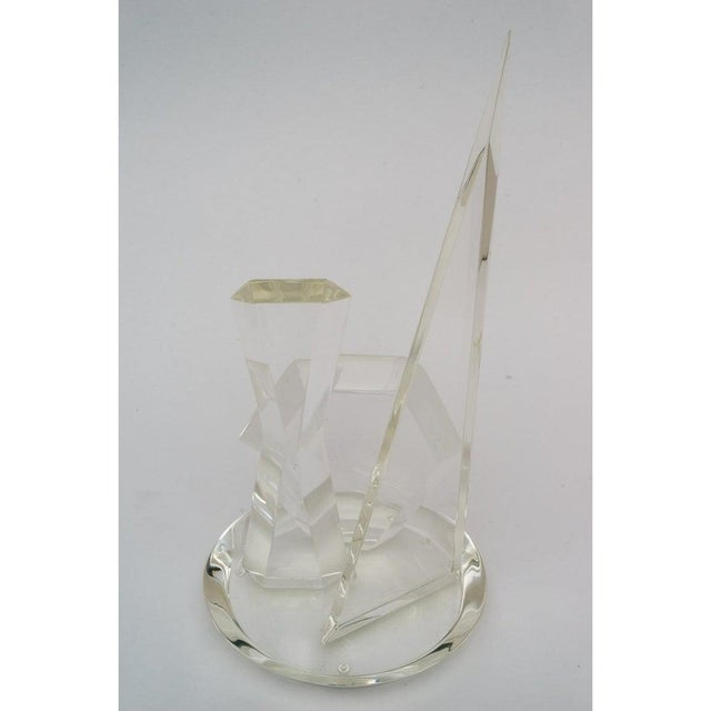 1970s Lucite Sculpture by Van Teal For Sale - Image 9 of 13