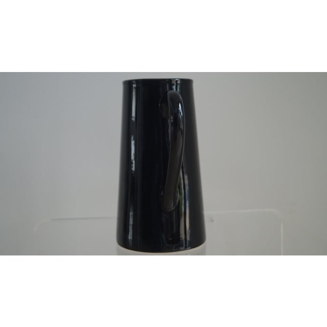Modern Modern Black High Gloss Pitcher For Sale - Image 3 of 4