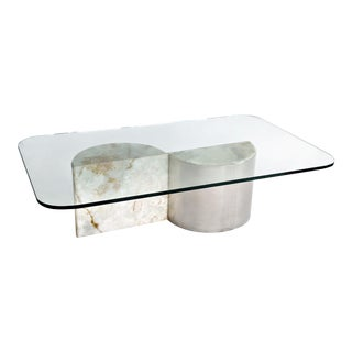 Aluminum and Onyx Coffee Table