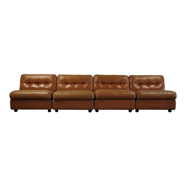 1970s Vintage Mario Bellini Amanta Modular Sofa For Sale