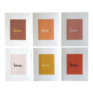 """""""Sedona"""" Contemporary Love Fine Art Prints by Neicy Frey - Set of 6 For Sale"""