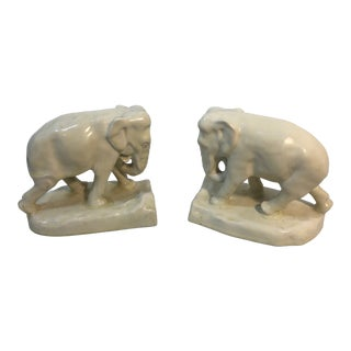 Rookwood Elephant Bookends - a Pair For Sale