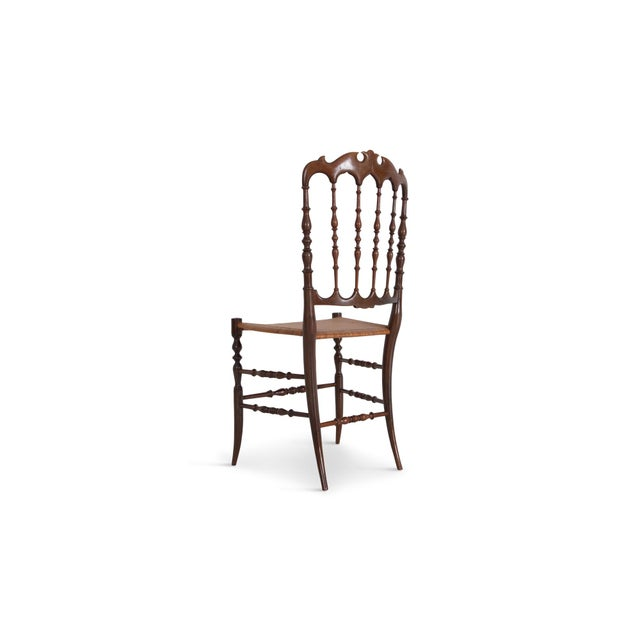 Chiavari Cherrywood & Wicker Dining Chairs After Giuseppe Gaetano Descales For Sale - Image 11 of 12