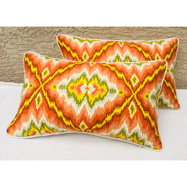 Mid Century Brunschwig and Fils Cotton Print Pillows - a Pair For Sale - Image 10 of 10