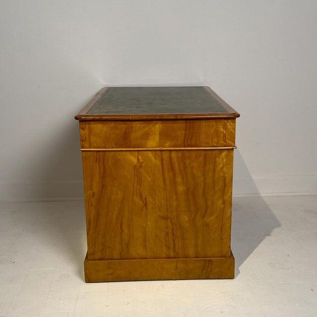 English English Satinwood Desk Circa 19th Century For Sale - Image 3 of 8