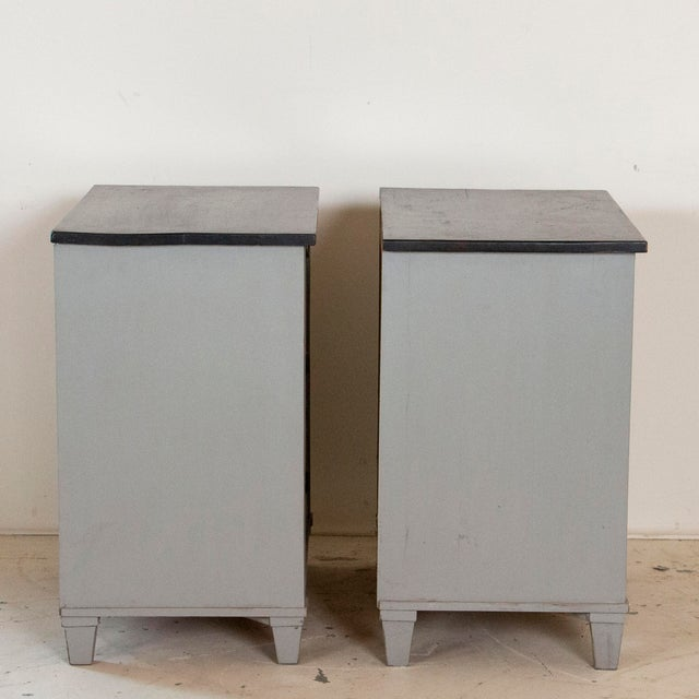 Late 19th Century 19th Century Antique Swedish Gustavian Nightstands-a Pair For Sale - Image 5 of 9