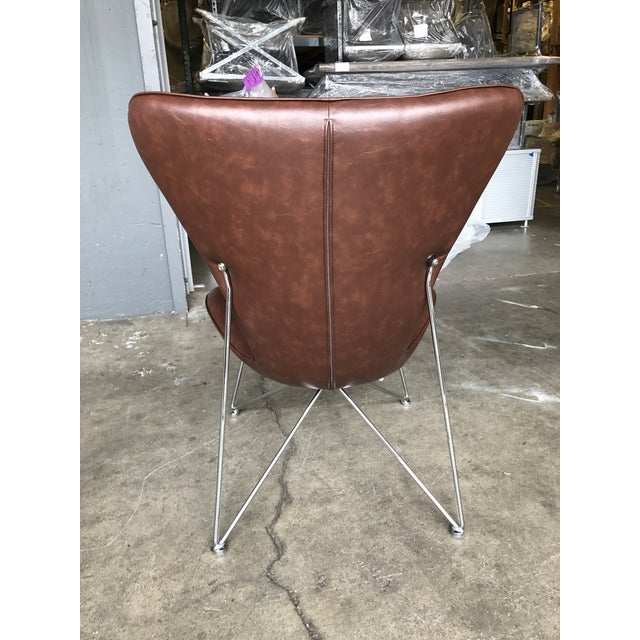 Distressed Brown Accent Chair - Image 5 of 5