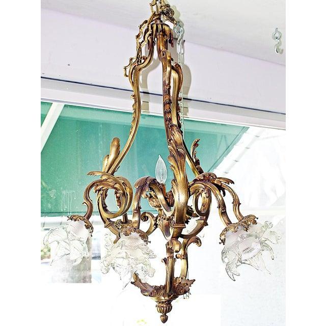 French Bronze-Dore' Art-Nouveau Fixture For Sale - Image 9 of 9