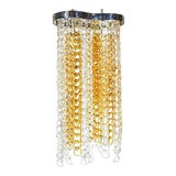 Image of Italian Angelo Mangiarotti Attributed Chrome & Glass Chandelier For Sale