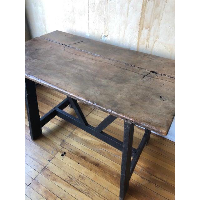 Walnut 17th Century Italian Antique Trestle Table For Sale - Image 7 of 12