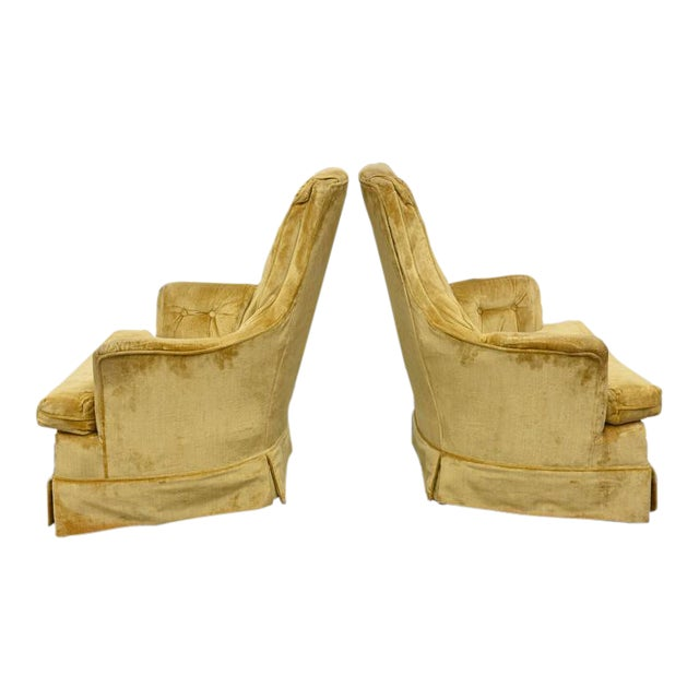 High Back Swivel Tufted Rocker/Lounge Chairs--1960s For Sale