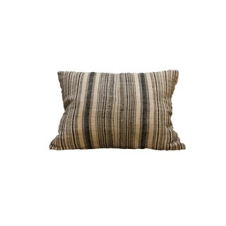 Boho Chic Indian Batik Fabric Pillow For Sale