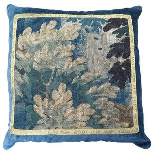 Maison Maison 18th Century Verdure Tapestry Pillow For Sale