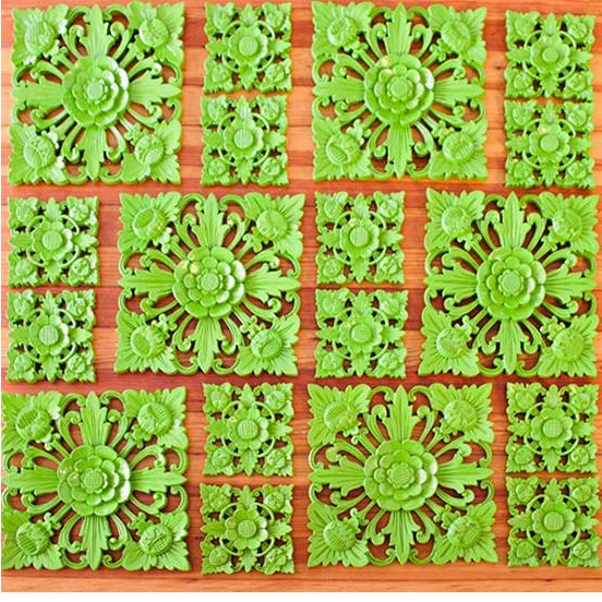 Retro Green Wall Square, Medium - Image 4 of 5