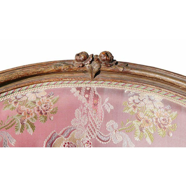 Louis XV Style Walnut and Painted Bergere Chair - Image 2 of 10