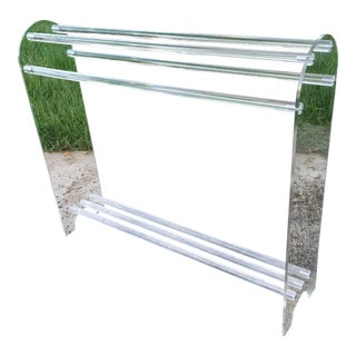 Curved Clear Lucite Towel or Blanket Rack For Sale